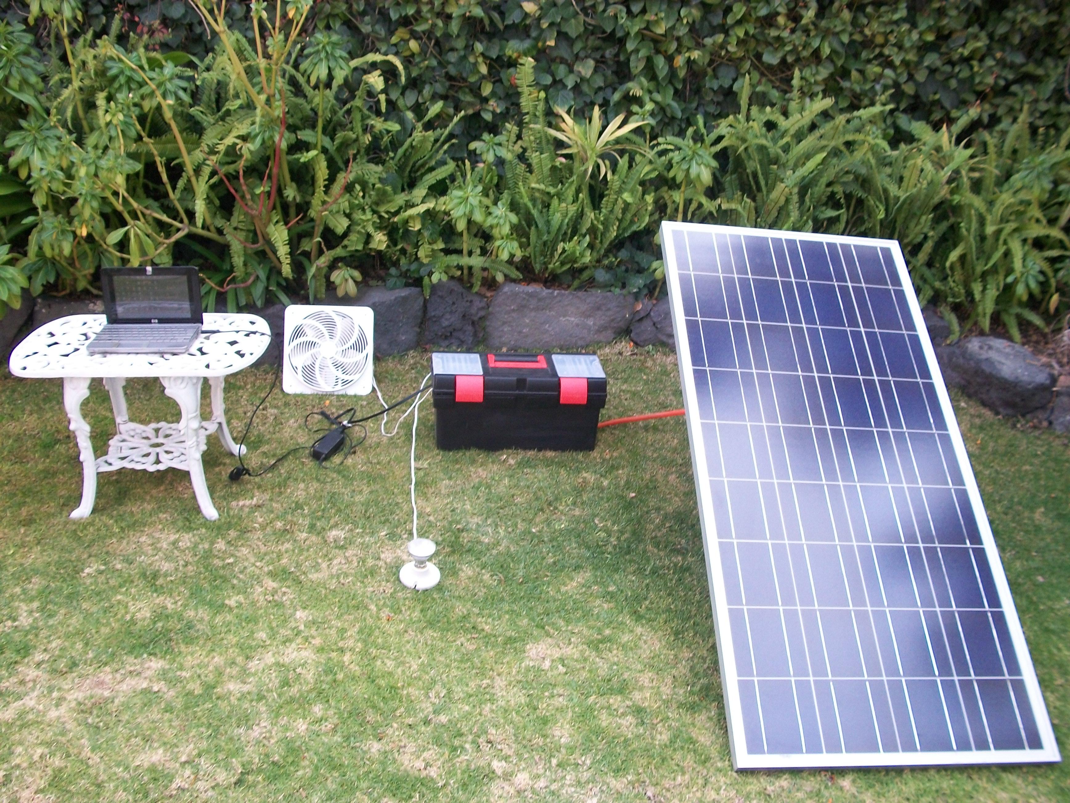 Photovoltaic kit 120 w/h